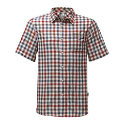 The North Face Short Sleeve Getaway Mens Shirt, Rage Red Plaid, 256