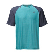 The North Face Short Sleeve Tech Trek Mens T-Shirt, Blue Moon, medium