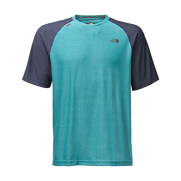 The North Face Short Sleeve Tech Trek Mens T-Shirt, Blue Moon, 600