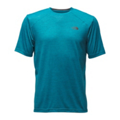 The North Face Short Sleeve Longline FlashDry Crew Mens T-Shirt, Baja Blue, medium