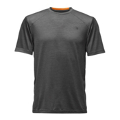 The North Face Short Sleeve Longline FlashDry Crew Mens T-Shirt, Asphalt Grey, medium