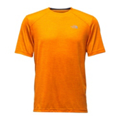 The North Face Short Sleeve Longline FlashDry Crew Mens T-Shirt, Exuberance Orange, medium