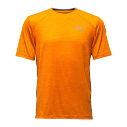 The North Face Short Sleeve Longline FlashDry Crew Mens T-Shirt, Exuberance Orange, 256