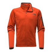 The North Face Borod Full Zip Mens Fleece, Tibetan Orange-Asphalt Grey, medium