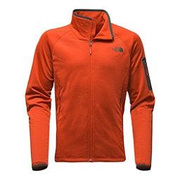 The North Face Borod Full Zip Mens Fleece (Previous Season), Tibetan Orange-Asphalt Grey, 256