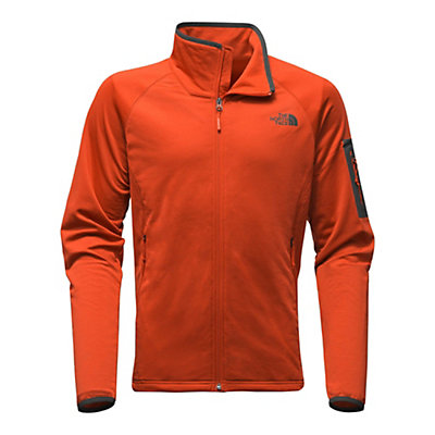The North Face Borod Full Zip Mens Fleece, Tibetan Orange-Asphalt Grey, viewer
