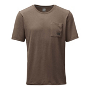 The North Face Short Sleeve Crag Mens T-Shirt, Falcon Brown Heather, medium