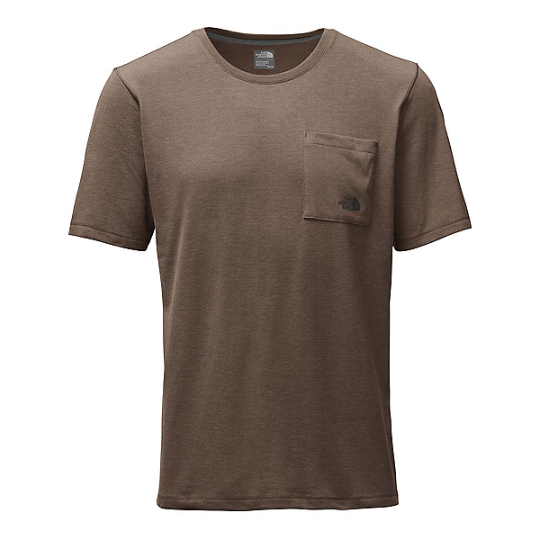 The North Face Short Sleeve Crag Mens T-Shirt, Falcon Brown Heather, 600
