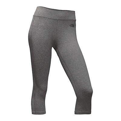 The North Face Pulse Capri Tight Womens Pants, TNF Medium Grey Heather, viewer