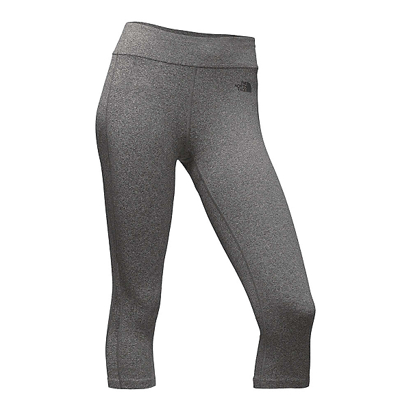 The North Face Pulse Capri Tight Womens Pants, TNF Medium Grey Heather, 600