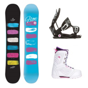 Flow Silhouette Cosmo 2 Womens Complete Snowboard Package, , medium