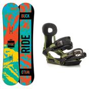 Ride Lil Buck Phenom Kids Snowboard and Binding Package, 135cm, medium