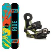 Ride Lil Buck Phenom Kids Snowboard and Binding Package, 139cm, medium