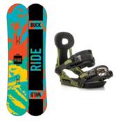 Ride Lil Buck Phenom Kids Snowboard and Binding Package, 148cm, medium