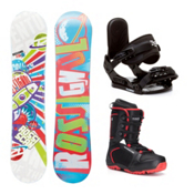 Rossignol Scan AmpTek Militia 4 Kids Complete Snowboard Package, , medium