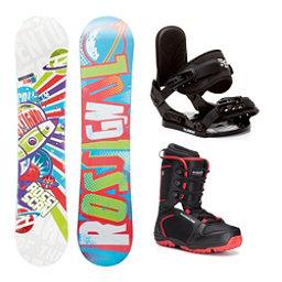 Rossignol Scan AmpTek Militia 4 Kids Complete Snowboard Package, , 256