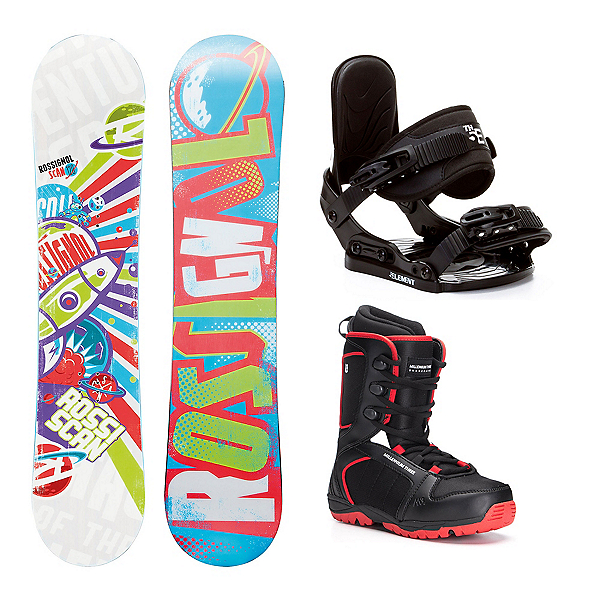 Rossignol Scan AmpTek Militia 4 Kids Complete Snowboard Package, , 600