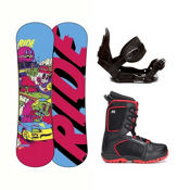 Ride Lowride Militia 4 Kids Complete Snowboard Package, , medium