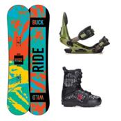 Ride Lil Buck Militia Kids Complete Snowboard Package, 135cm, medium