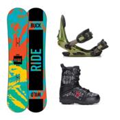 Ride Lil Buck Militia Kids Complete Snowboard Package, 139cm, medium