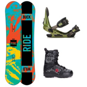 Ride Lil Buck Militia Kids Complete Snowboard Package, 148cm, medium