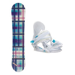 Joyride Gift Blue Solstice Girls Snowboard and Binding Package, , 256