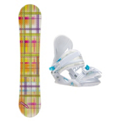 Joyride Gift Yellow Solstice Girls Snowboard and Binding Package, , medium