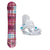 Joyride Gift Pink Solstice Girls Snowboard and Binding Package, , medium