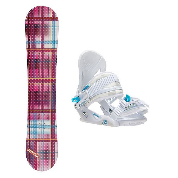 Joyride Gift Pink Solstice Girls Snowboard and Binding Package, , 600