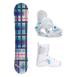 Joyride Gift Blue Venus Girls Complete Snowboard Package, , 256