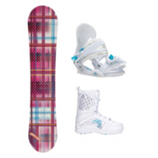 Joyride Gift Pink Venus Girls Complete Snowboard Package, , medium