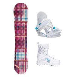 Joyride Gift Pink Venus Girls Complete Snowboard Package, , 256