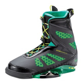 CWB MD Wakeboard Bindings, Black-Green, medium