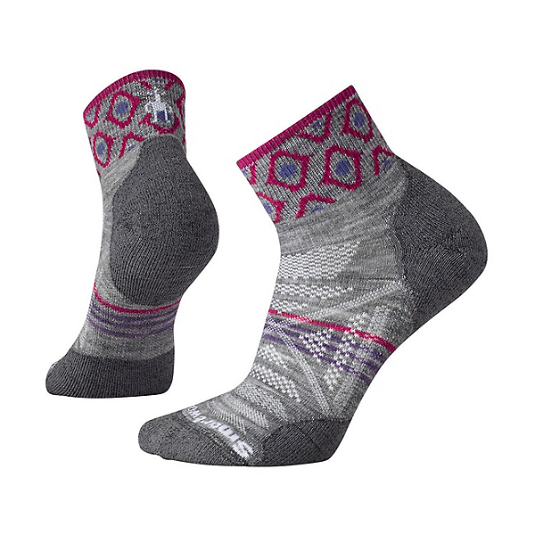 SmartWool PHD Outdoor Light Mini Pattern Hiking Womens Socks, Light Gray, 600