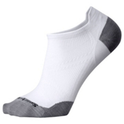SmartWool PHD Run Ultra Light Micro Mens Socks, White-Light Gray, medium