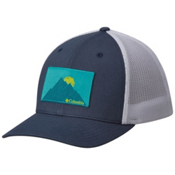 Columbia Mesh Hat, Zinc-Mountain Patch, medium