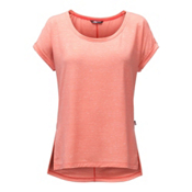 The North Face EZ Dolman Womens T-Shirt, Burnt Coral Melange, medium