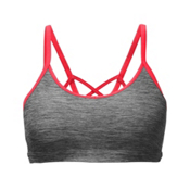 The North Face Motivation Strappy Womens Sports Bra, TNF Dark Grey Heather-Cayenne, medium