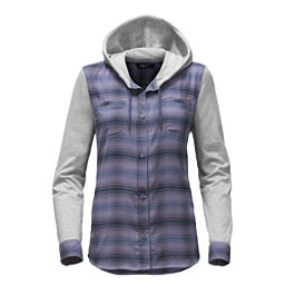 The North Face Campground Shacket Womens Jacket, Coastal Fjord Blue Plaid, 256