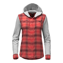 The North Face Campground Shacket Womens Jacket, Cayenne Red Plaid, 256