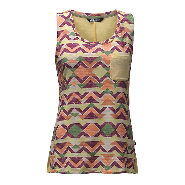 The North Face EZ Tank Womens Tank Top, Golden Haze Triangle Tribal Pr, 600