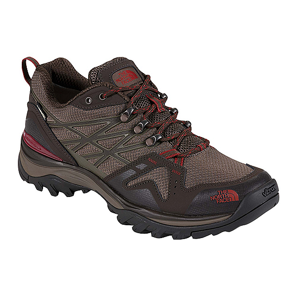 The North Face Hedgehog Fastpack GTX Mens Shoes, Coffee Brown-Rosewood Red, 600