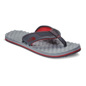 The North Face Base Camp Plus Mens Flip Flops, Dark Shadow Grey-TNF Red, medium