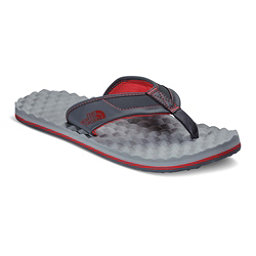 The North Face Base Camp Plus Mens Flip Flops, Dark Shadow Grey-TNF Red, 256