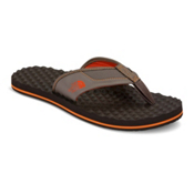 The North Face Base Camp Plus Mens Flip Flops, Falcon Brown-Tibetan Orange, medium