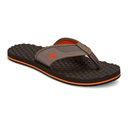 The North Face Base Camp Plus Mens Flip Flops, Falcon Brown-Tibetan Orange, 256