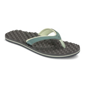 The North Face Base Camp Plus Mini Womens Flip Flops, Trellis Green-Graphite Grey, medium