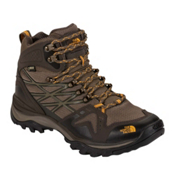 The North Face Hedgehog Fastpack Mid GTX Mens Shoes, Shroom Brown-Brushfire Orange, medium