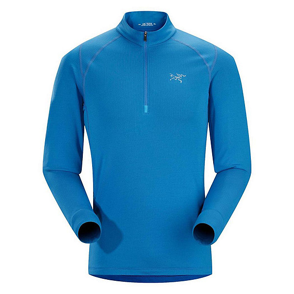 Arc'teryx Thetis Zip Neck Mens Mid Layer, Borneo Blue, 600