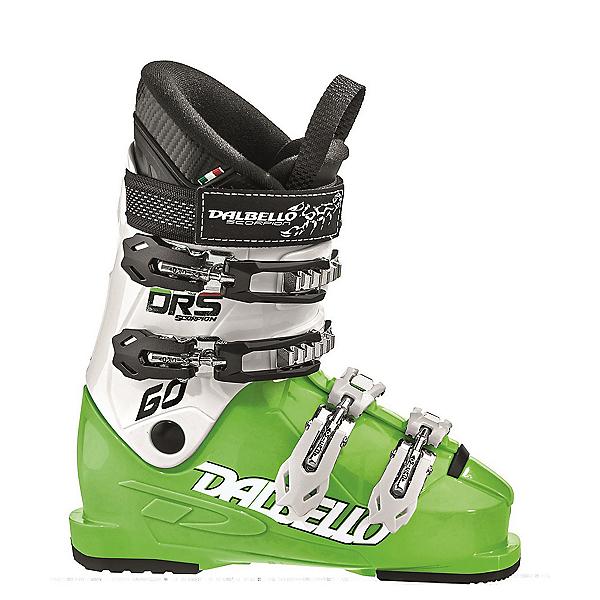 Dalbello Scorpion DRS 60 Junior Race Ski Boots, Lime-White, 600